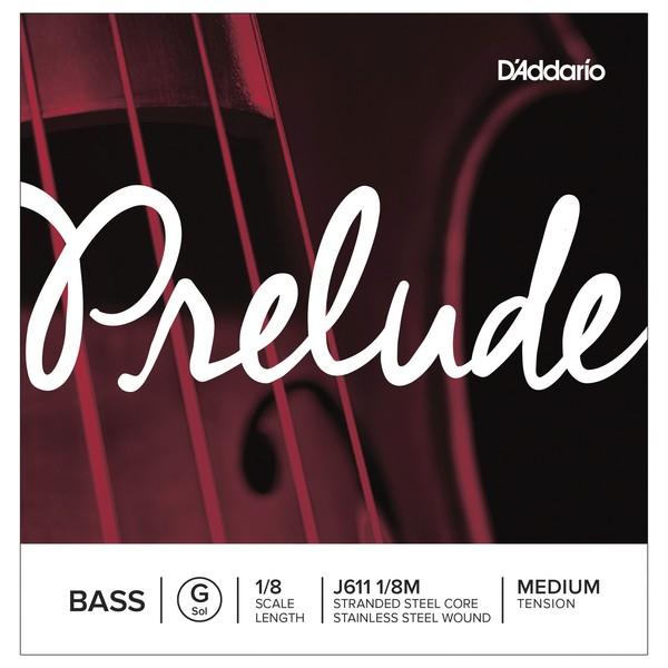 D'Addario Prelude Double Bass G String, 1/8 Size, Medium