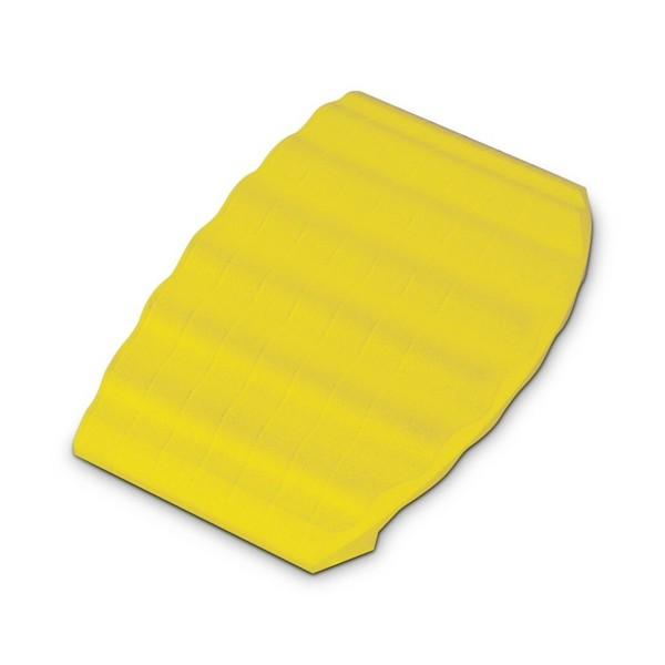 Defender End Ramp for Defender Office Cable Duct, Yellow