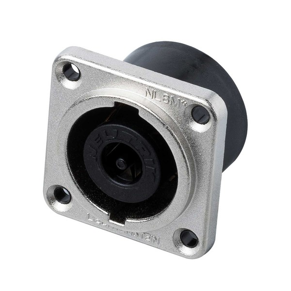 Neutrik NL8MPR 8-Pole SpeakON Chassis Connector, Nickel 1