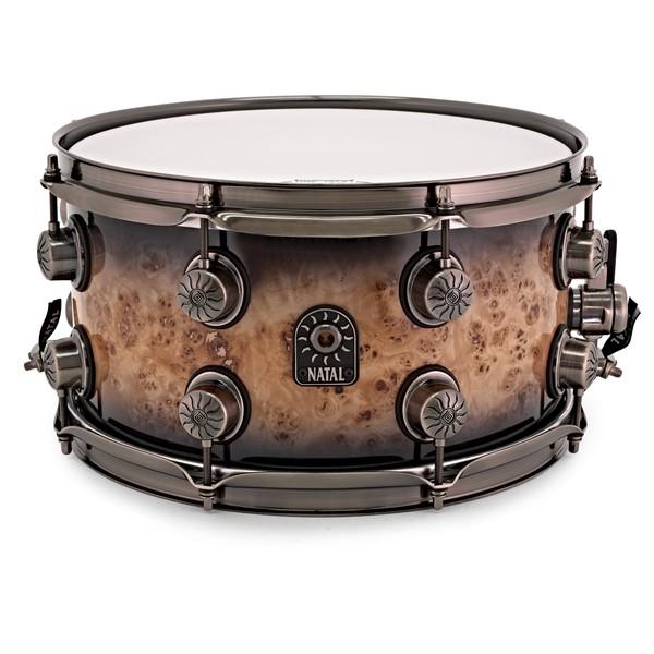 Natal Mappa Burl Maple 13'' x 7'' Snare Drum, Smoked Gloss