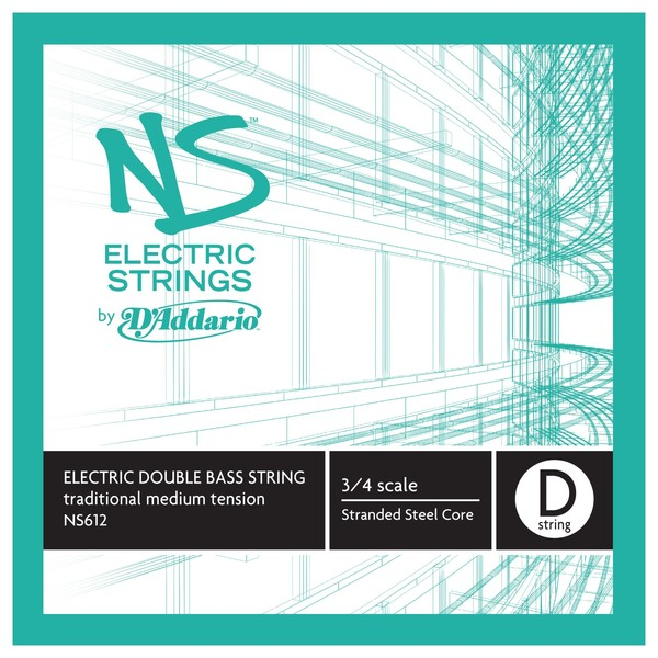 D'Addario NS Electric Traditional Double Bass D String, 3/4, Medium