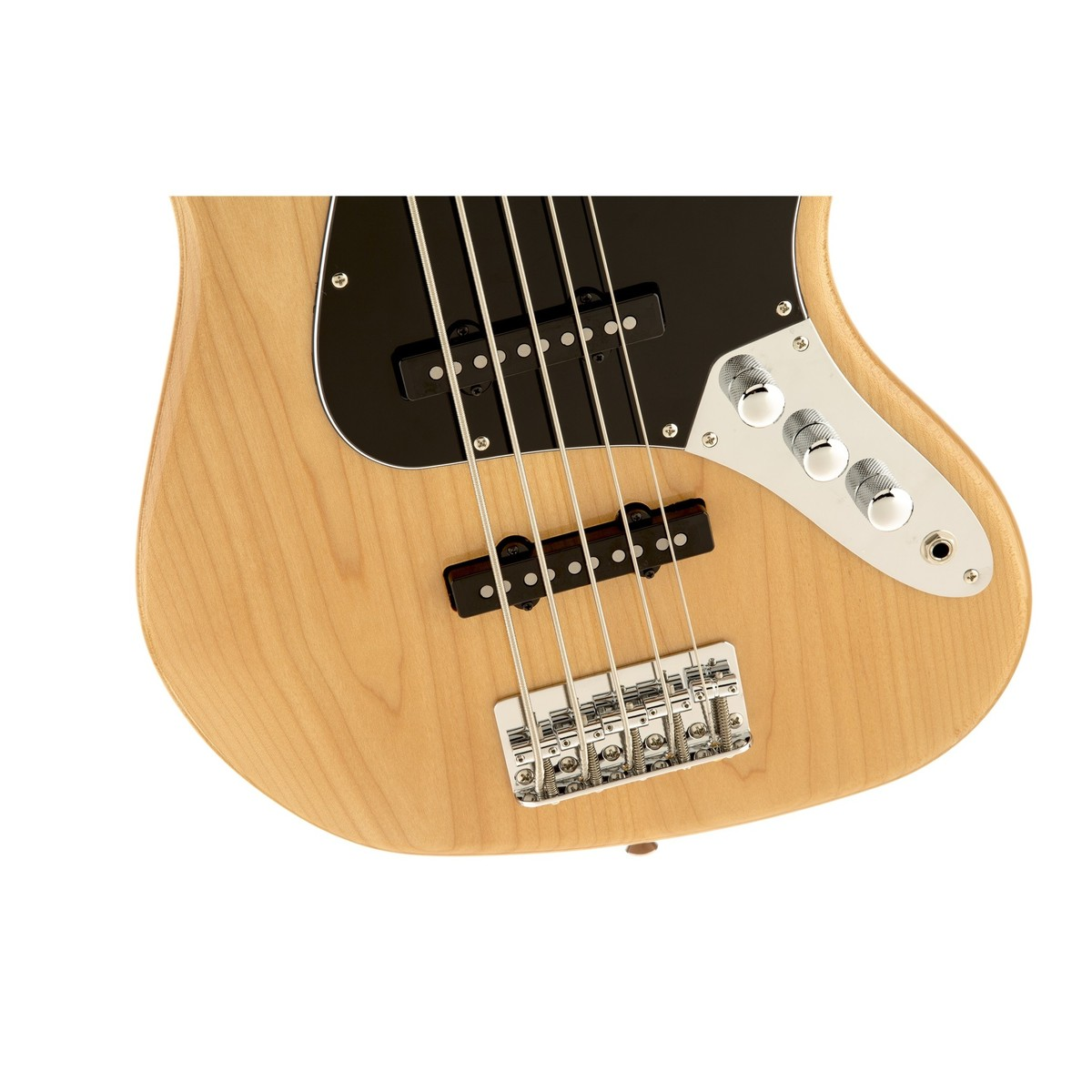 squier vintage modified jazz bass v 5 string natural at gear4music. Black Bedroom Furniture Sets. Home Design Ideas