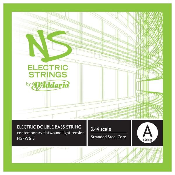 D'Addario NS Electric Contemporary Double Bass A String, 3/4, Light