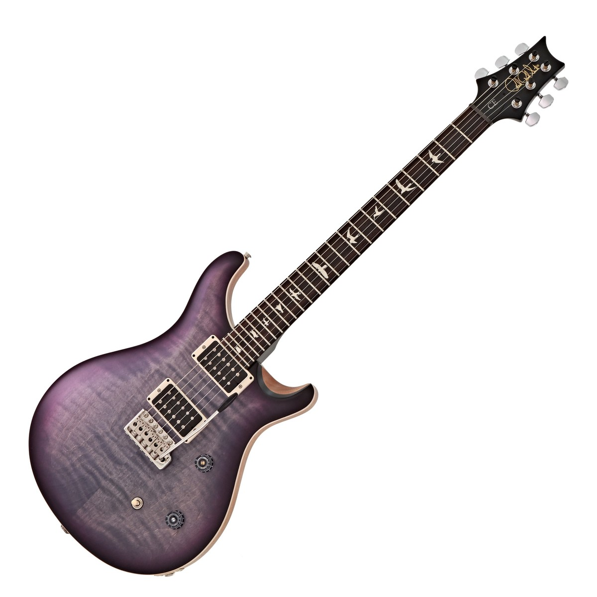 Click to view product details and reviews for Prs Ce 24 Satin Ltd Faded Grey Black Purple Burst 252302.