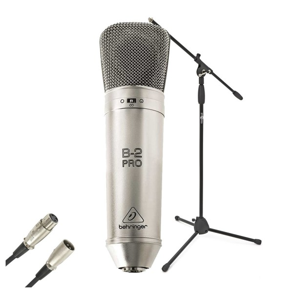 Behringer B-2 Pro Condenser Microphone With Stand & Cable - Full Bundle