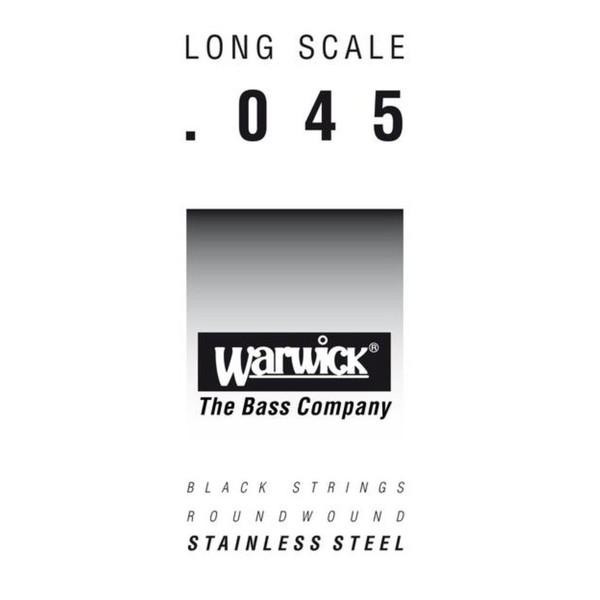 Warwick Black Label Single Bass String, 045