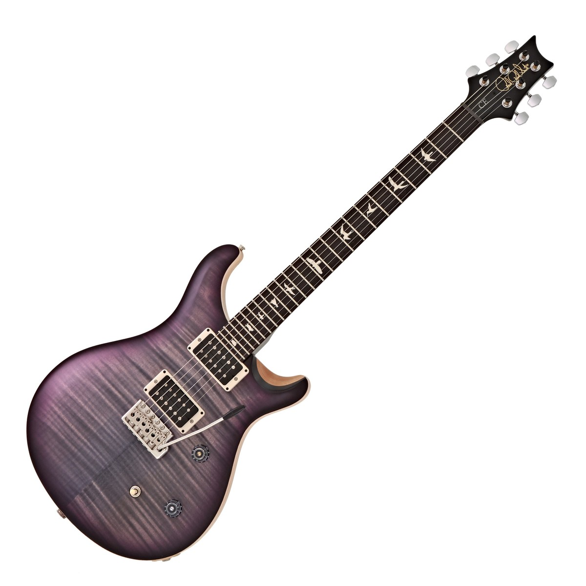 Click to view product details and reviews for Prs Ce 24 Satin Ltd Faded Grey Black Purple Burst 252304.