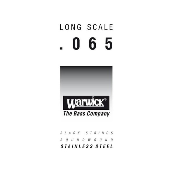 Warwick Black Label Single Bass String, 065