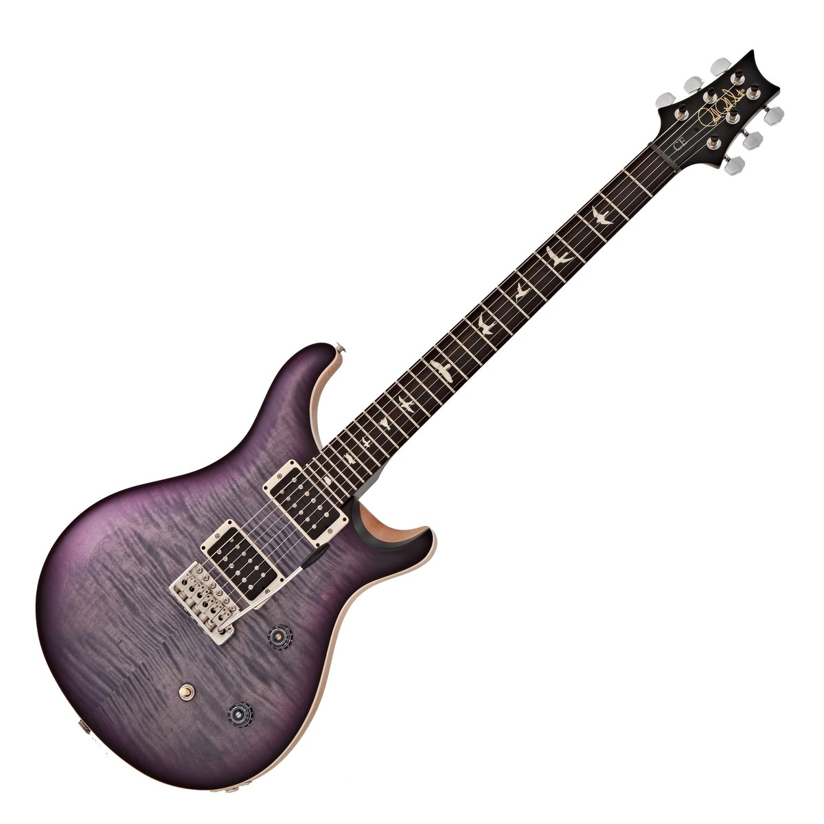 Click to view product details and reviews for Prs Ce 24 Satin Ltd Faded Grey Black Purple Burst 252307.