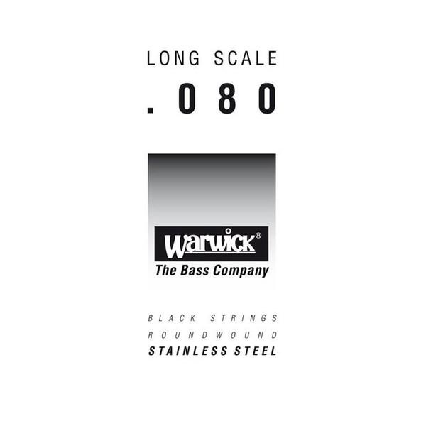 Warwick Black Label Single Bass String, 080