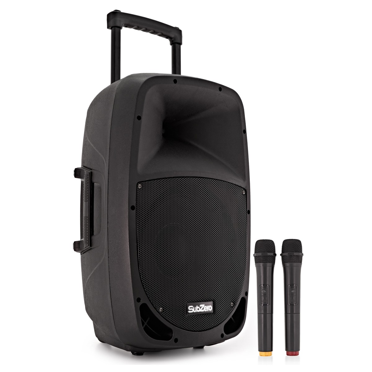SubZero SZPA-P12 Portable PA with Bluetooth   Wireless Mics