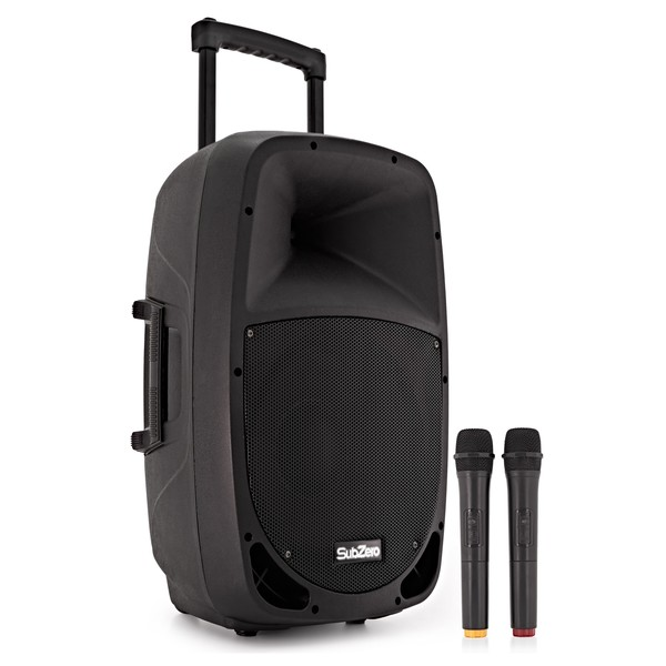 SubZero SZPA-P12 Portable PA with Bluetooth + Wireless Mics