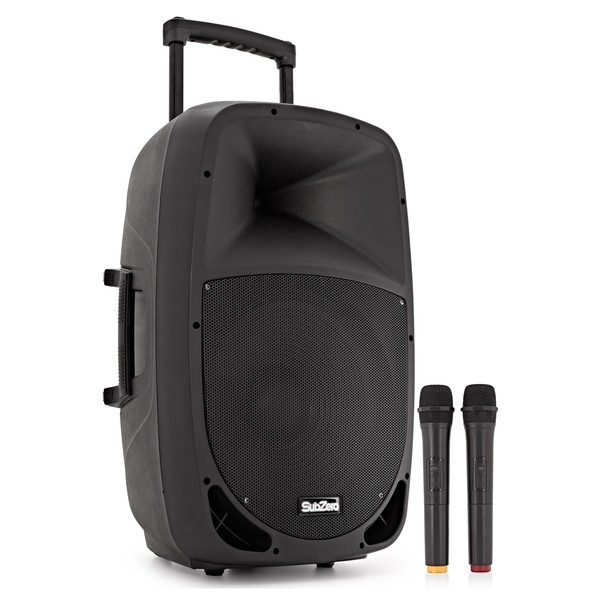 SubZero SZPA-P15 Portable PA with Bluetooth + Wireless Mics