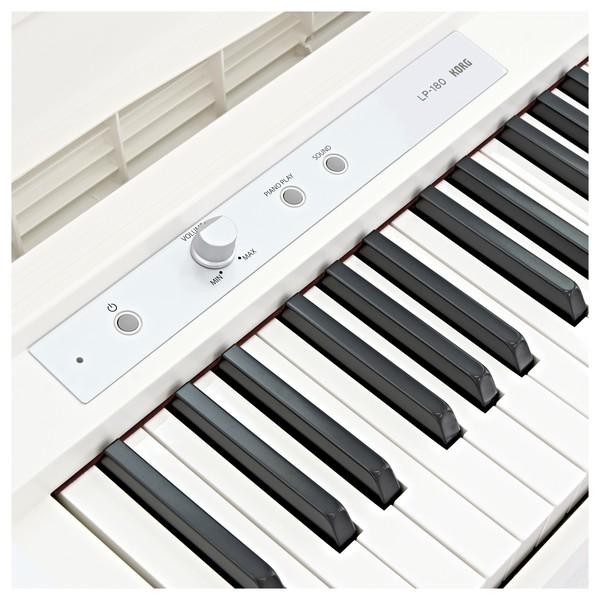 Korg LP-180 Digital Piano, White - Closed