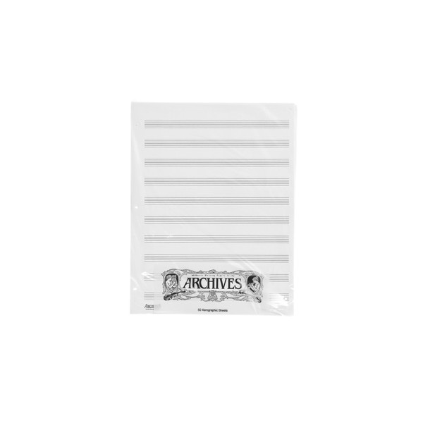 D'Addario Looseleaf Xerographic Manuscript Paper, 10 Stave, 50 Pages