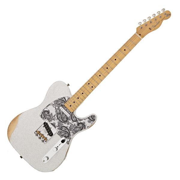 Fender Brad Paisley Road Worn Telecaster, Silver Sparkle