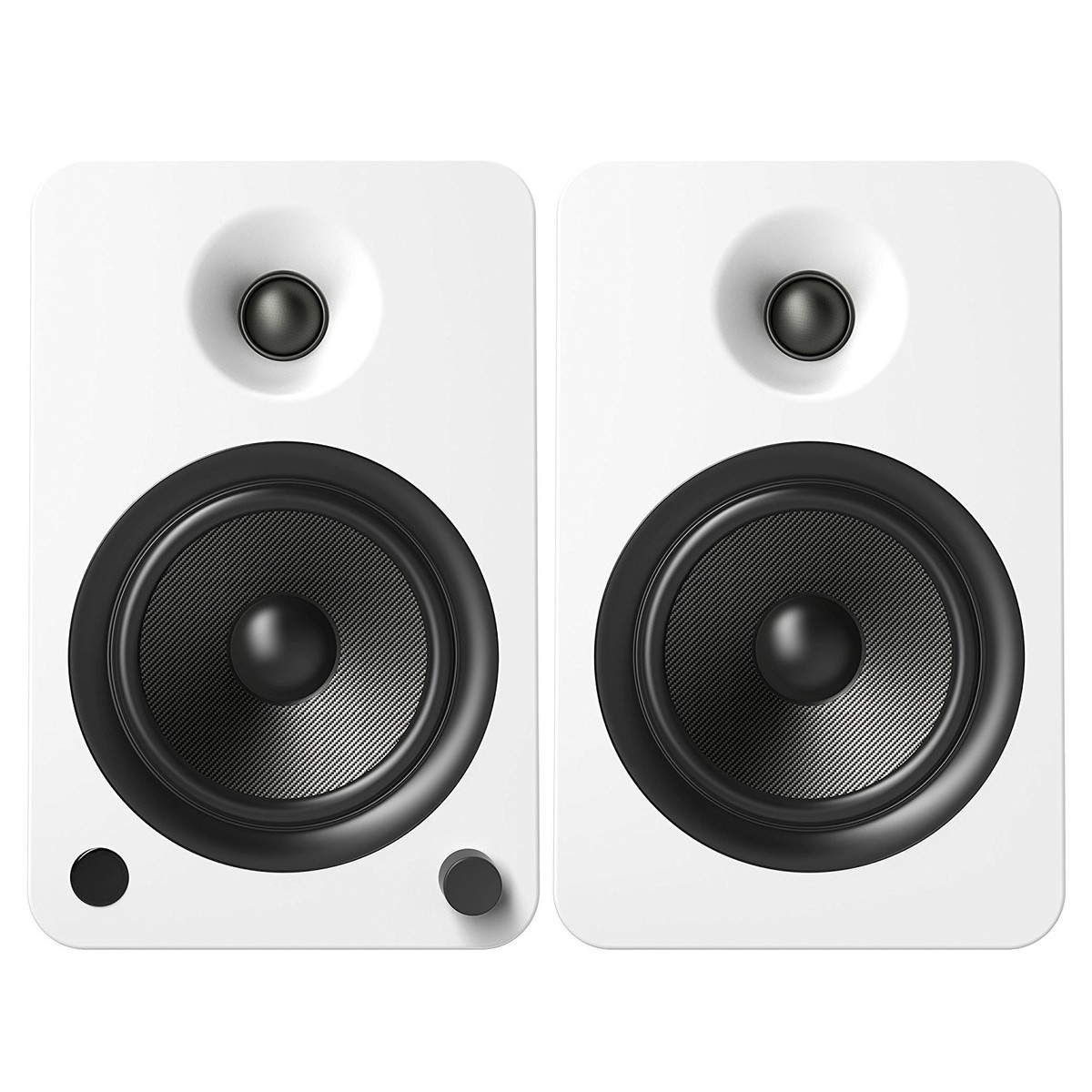 Kanto YU6 Powered Bookshelf Speakers Gloss White