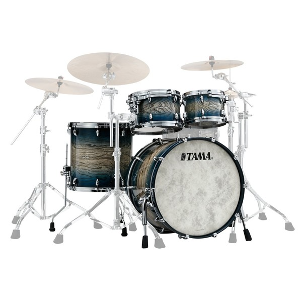 Tama Star Walnut 22'' 4pc Shell Pack, Indigo Japanese Sen Burst