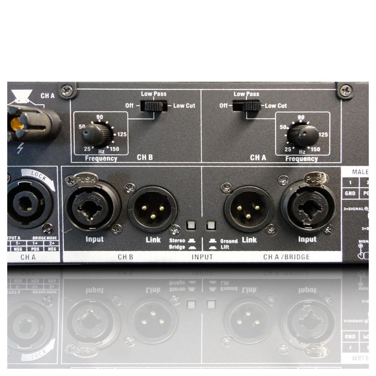 Ld Systems Deep2 2400x 2 X 1200 Watt Power Amplifier At Gear4music 50 Watts Audio Sockets Loading Zoom