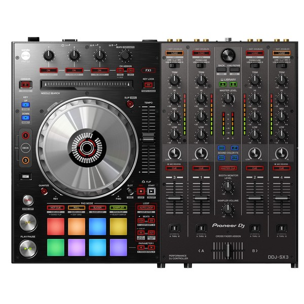 Pioneer DDJ-SX3 DJ Controller - Deck and Mixer Close Up