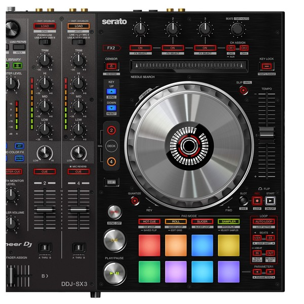 Pioneer DDJ-SX3 DJ Controller - Deck Close Up