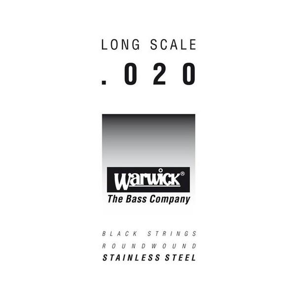 Warwick Black Label Single Bass String, 020