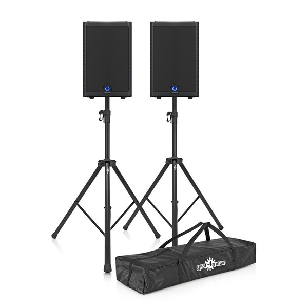 Turbosound M15 15'' Active PA Speaker Pair with Free Stands