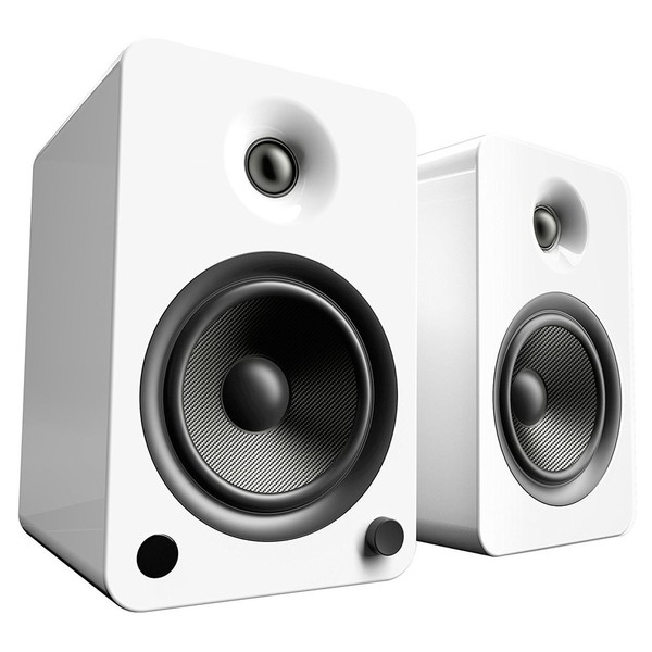 Kanto YU6 Powered Bookshelf Speakers, Gloss White - Main
