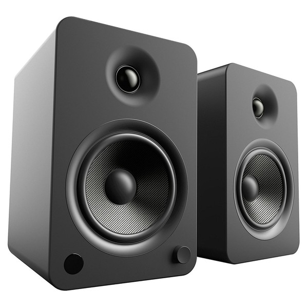 Kanto YU6 Powered Bookshelf Speakers, Matte Black - Main