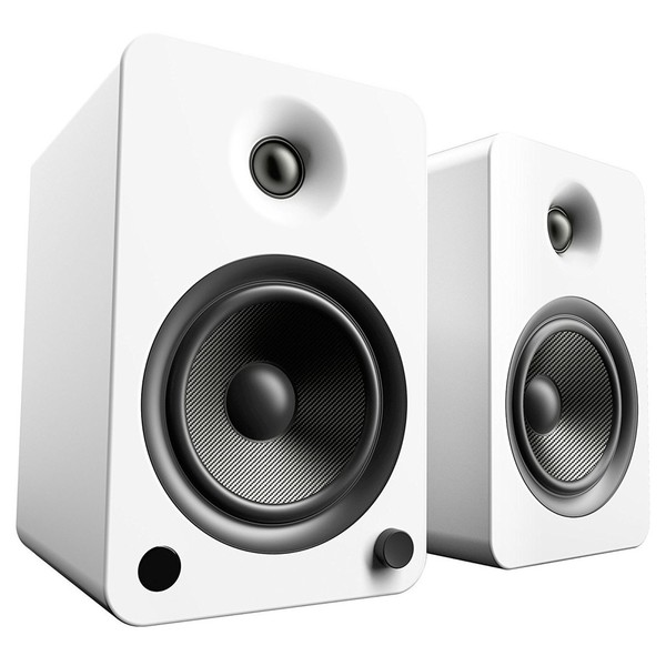 Kanto YU6 Powered Bookshelf Speakers, Matte White - Main