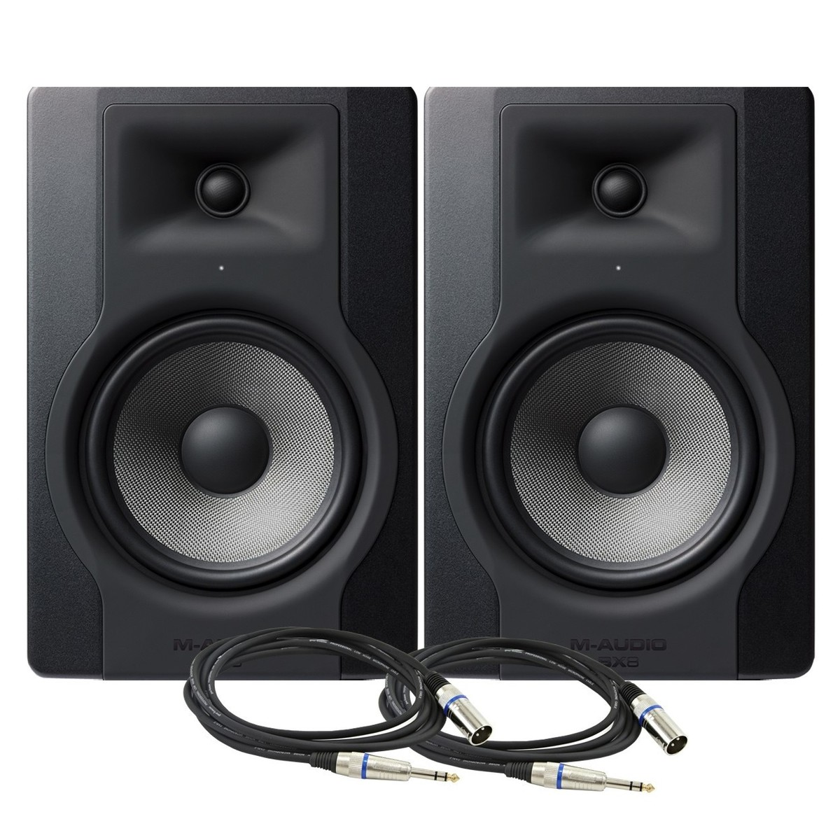 Cheap M-Audio BX8-D3 Studio Monitor Pair with Cables