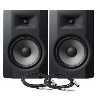 M-Audio BX8-D3 Studio Monitor Pair with Free Cables - Bundle