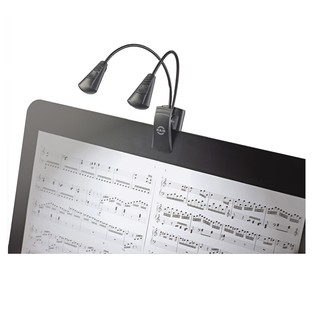 K&M 12243 Dual Music Stand Flexlight, Dual LED