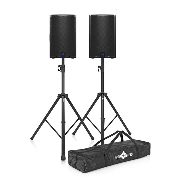 Turbosound iX12 12'' Active PA Speaker Pair with Stands - Full Package Front
