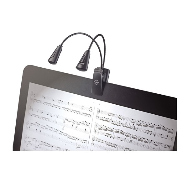 K&M 12244 Dual Music Stand Flexlight, Dual LED