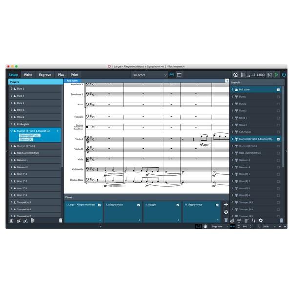 Steinberg Dorico Elements 2 - Setup Mode