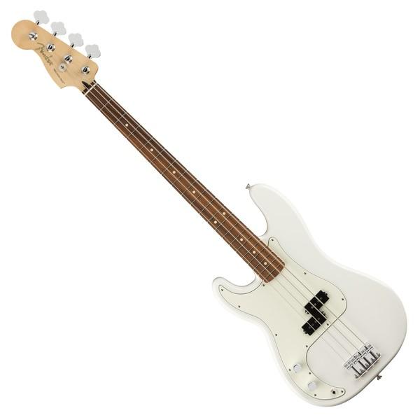 Fender Player Precision Bass PF Left Handed, Polar White