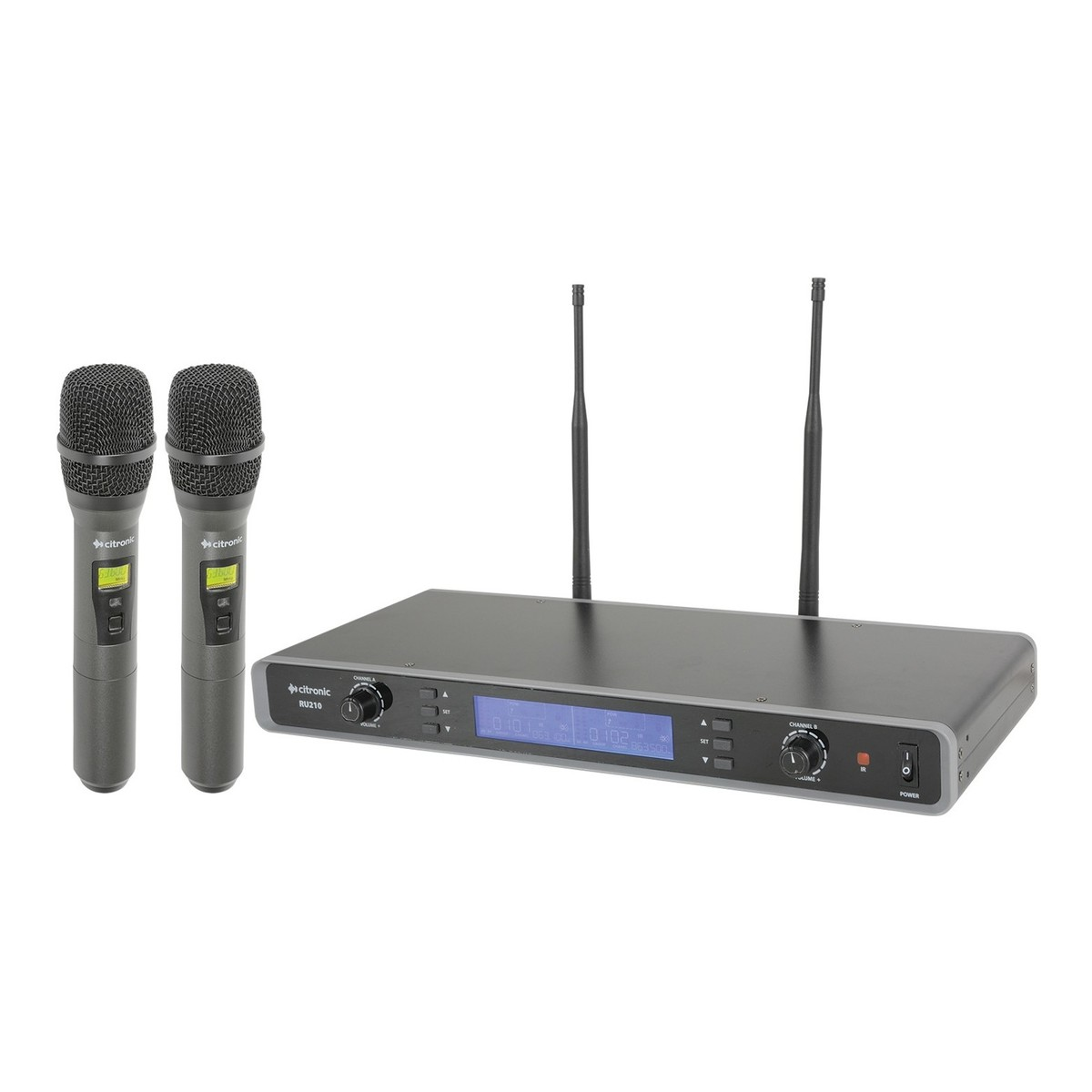 citronic ru210 h dual wireless handheld microphone system at gear4music. Black Bedroom Furniture Sets. Home Design Ideas