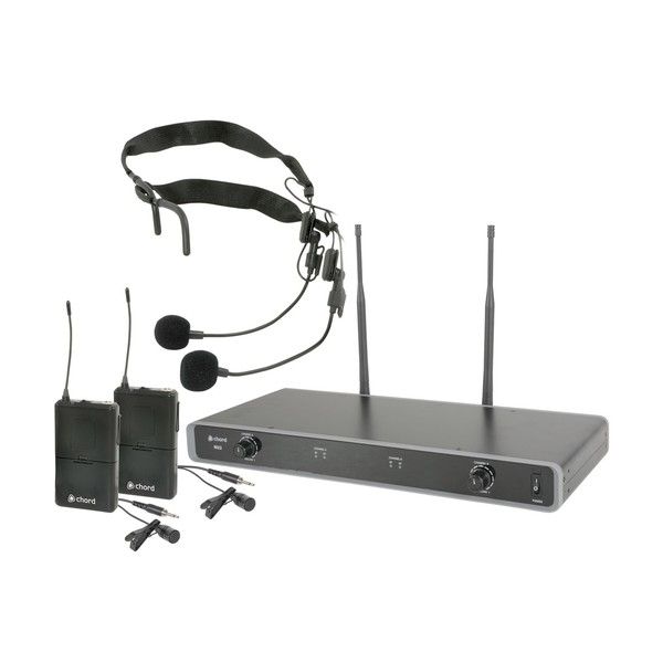 Chord NU2 Dual Wireless Headset & Lavalier Microphone System