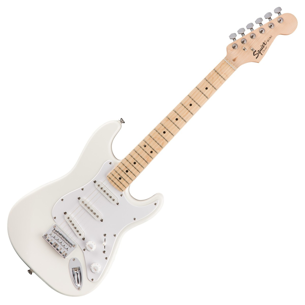 squier fsr mini strat mn olympic white at gear4music. Black Bedroom Furniture Sets. Home Design Ideas