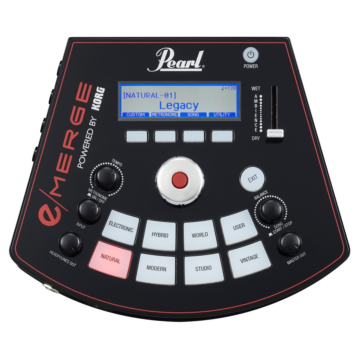 Pearl e/MERGE Traditional Electronic Drum Kit, Powered By Korg en ...
