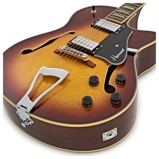 Hartwood Novella Semi Acoustic Guitar, Tobacco Sunburst