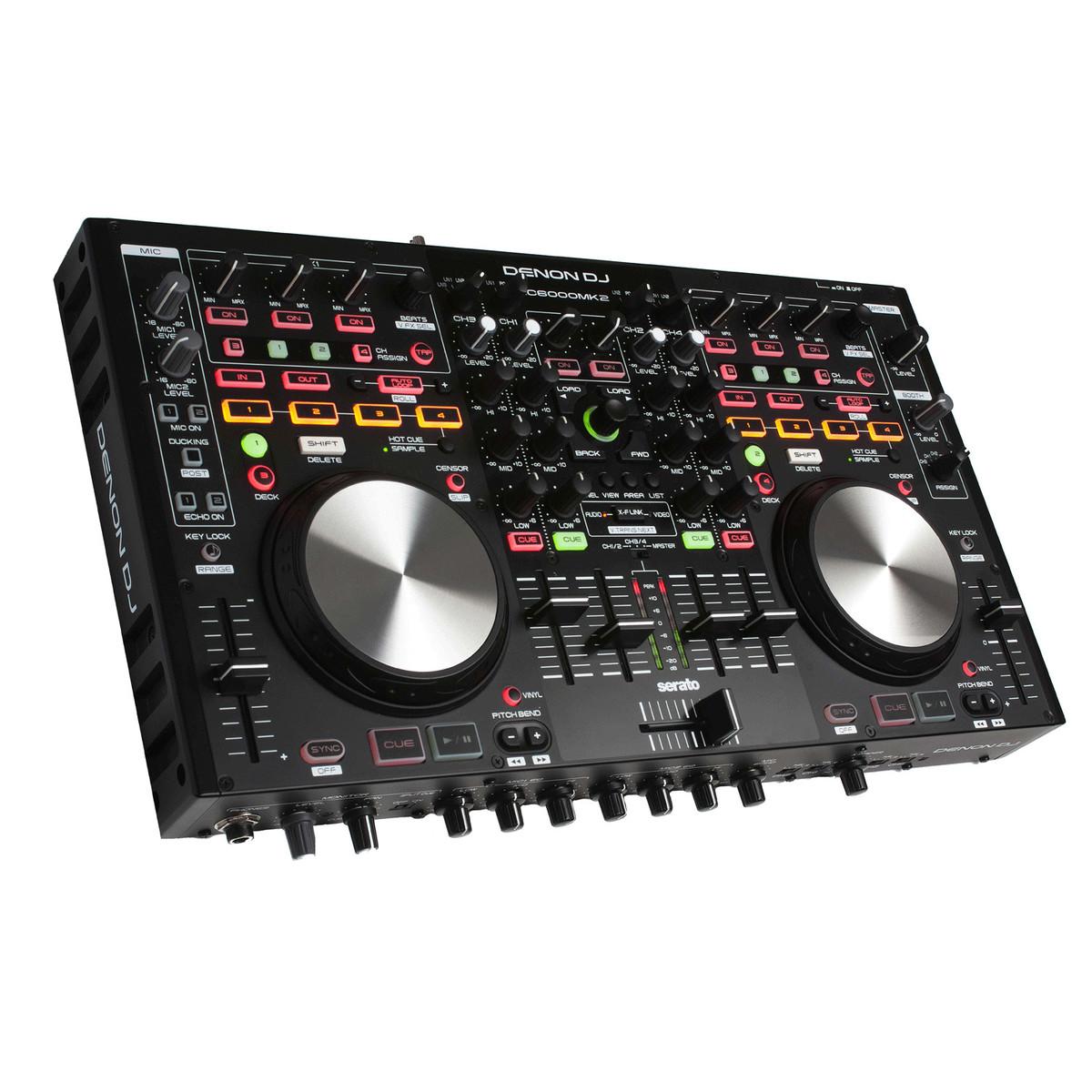 Denon MC6000MK2 Professional 4 Channel DJ Controller - B-Stock