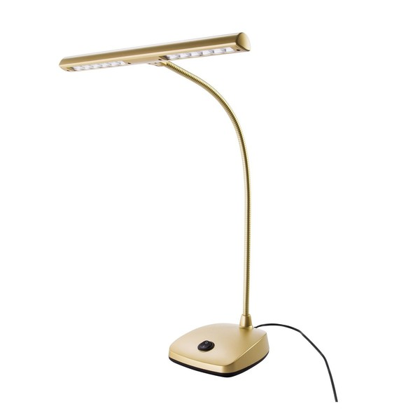 K&M 12297 LED Piano Lamp, Gold