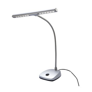 K&M 12297 LED Piano Lamp, Silver