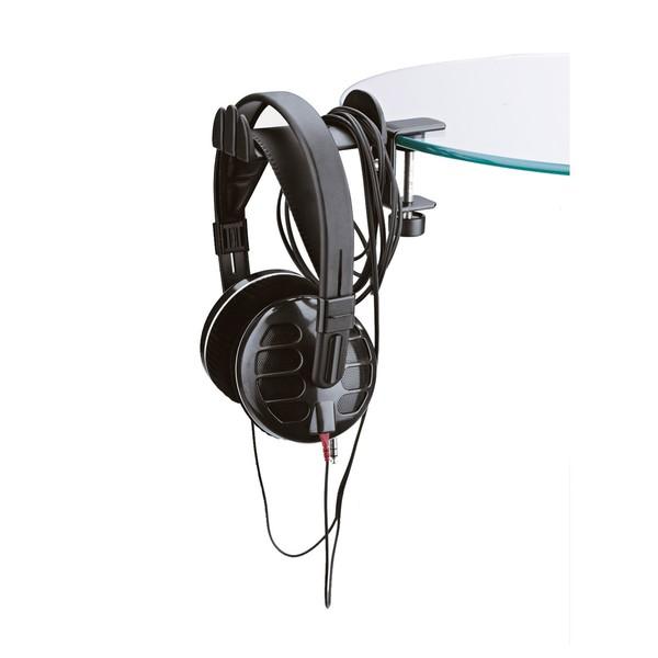 K&M 16090 Headphone Holder, Black