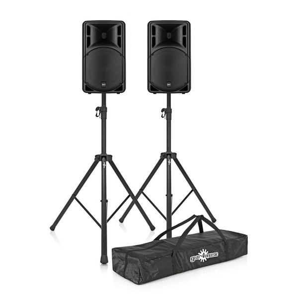 RCF ART 312-A MK4 Active Speaker Pair with Stands