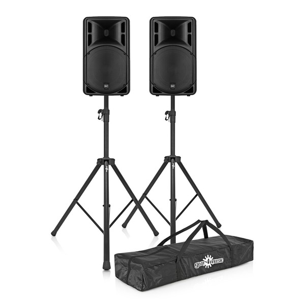 RCF ART 315-A MK4 Active Speaker Pair with Stands