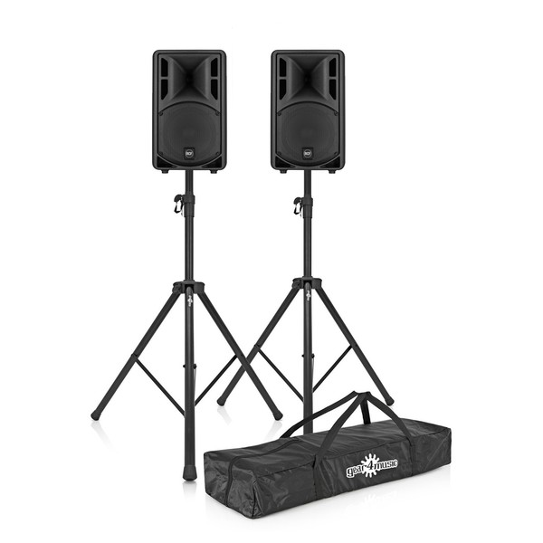 RCF ART 310-A MK4 Active Speakers Pair with Stands