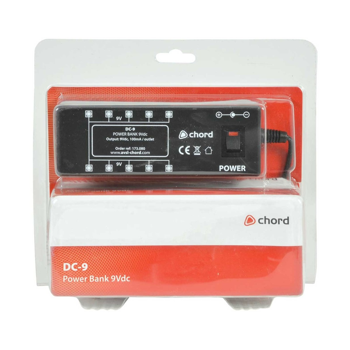 Chord 9v Dc 1a Power Supply For Effects Pedals At Gear4music Circuit Packaging Loading Zoom
